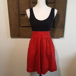 Express Red and Black Tank Dress